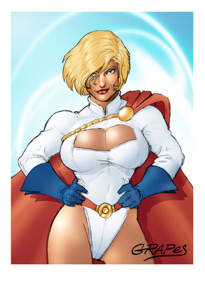 Power Girl color by wjgrapes