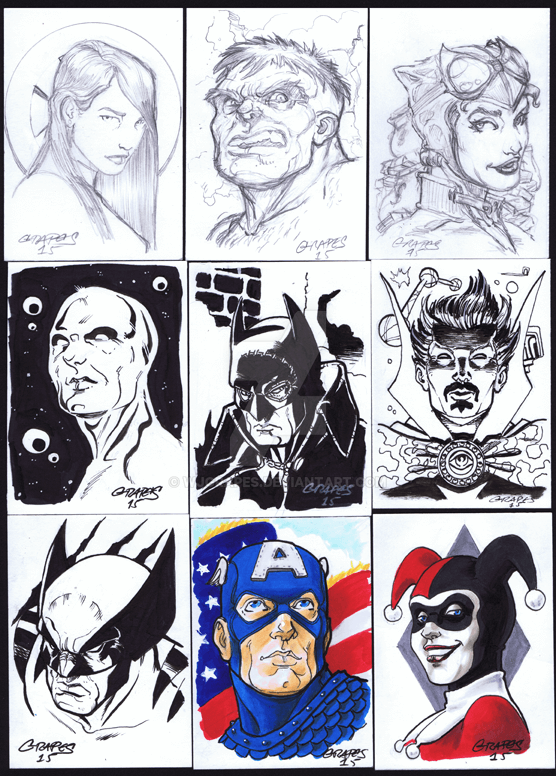Sketch Cards - Grapes by wjgrapes