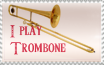 I Play Trombone Stamp by Vestasam568