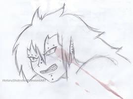 Gajeel Redfox pencil sketch 01