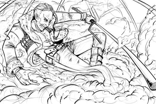 Captain Smoker LineART