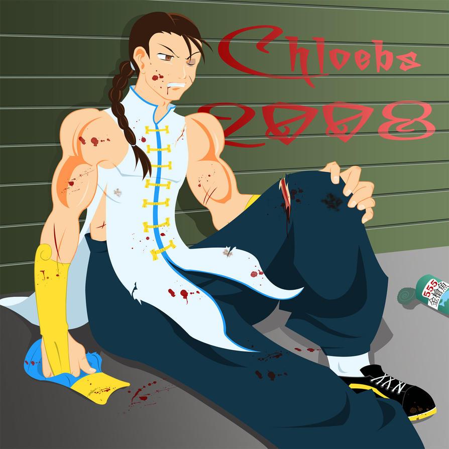 Yun Breaks a Leg by chloebs