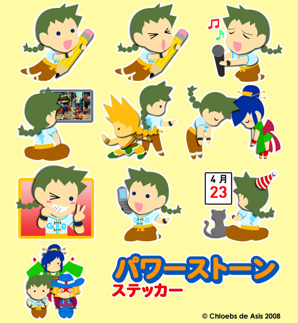 Power Stone Sanrio Stickers by chloebs