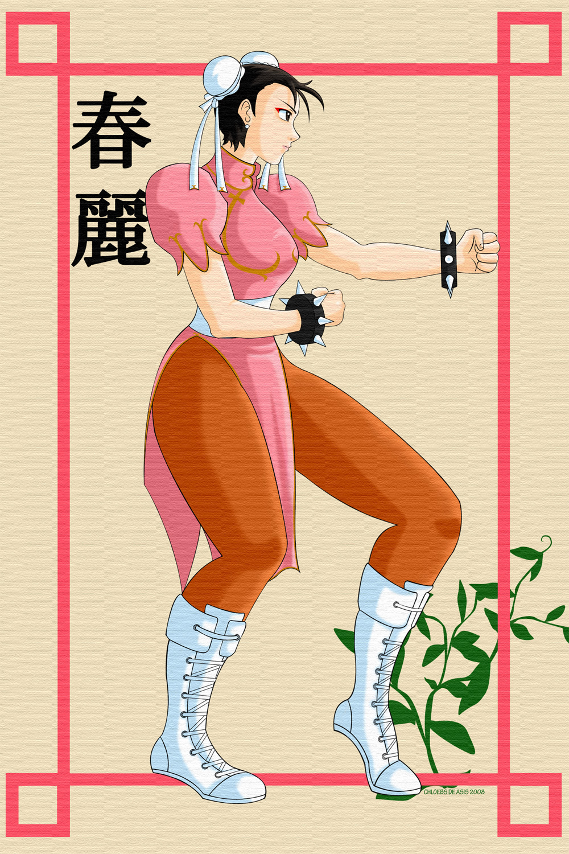 Chun-li Fighting Pose by chloebs