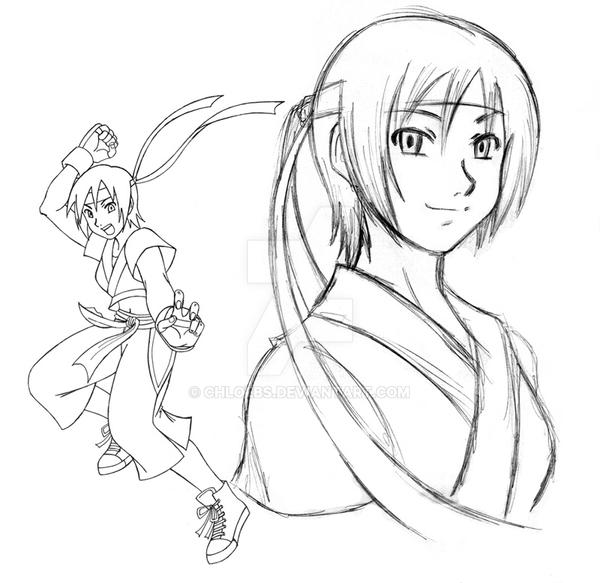 Sakura SF IV Sketch by chloebs