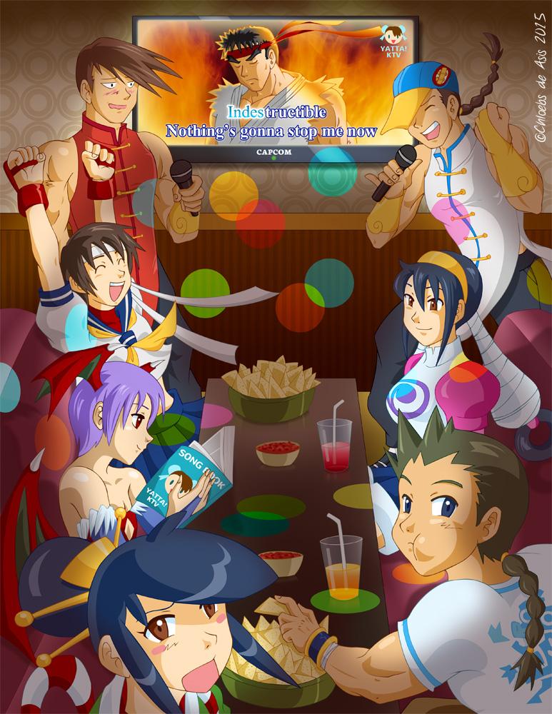 Capcom Karaoke by chloebs