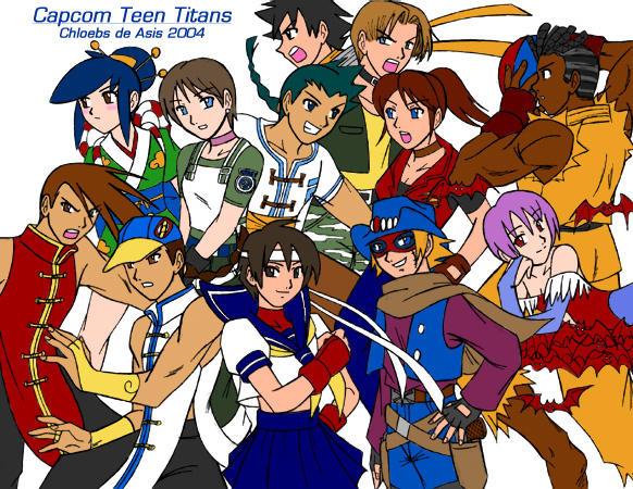 Capcom Teen Titans by chloebs