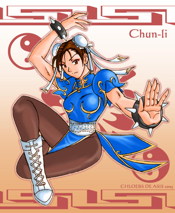 Chun-li 'Colored' by chloebs