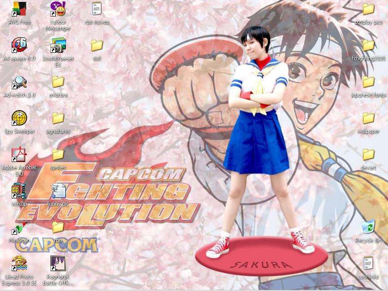 Cosplay Statue Desktop by chloebs