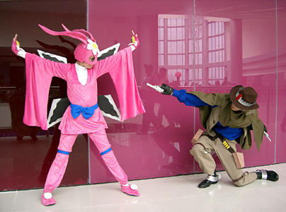 Ninja Bunny Hold-Up by chloebs