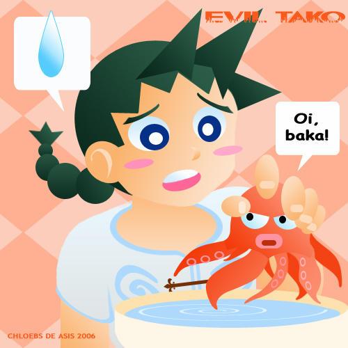 Evil Tako by chloebs