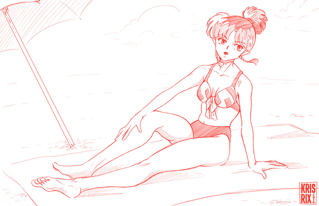 For ShizNat4EVER - Kagura in Bathing Suit by KrisRix