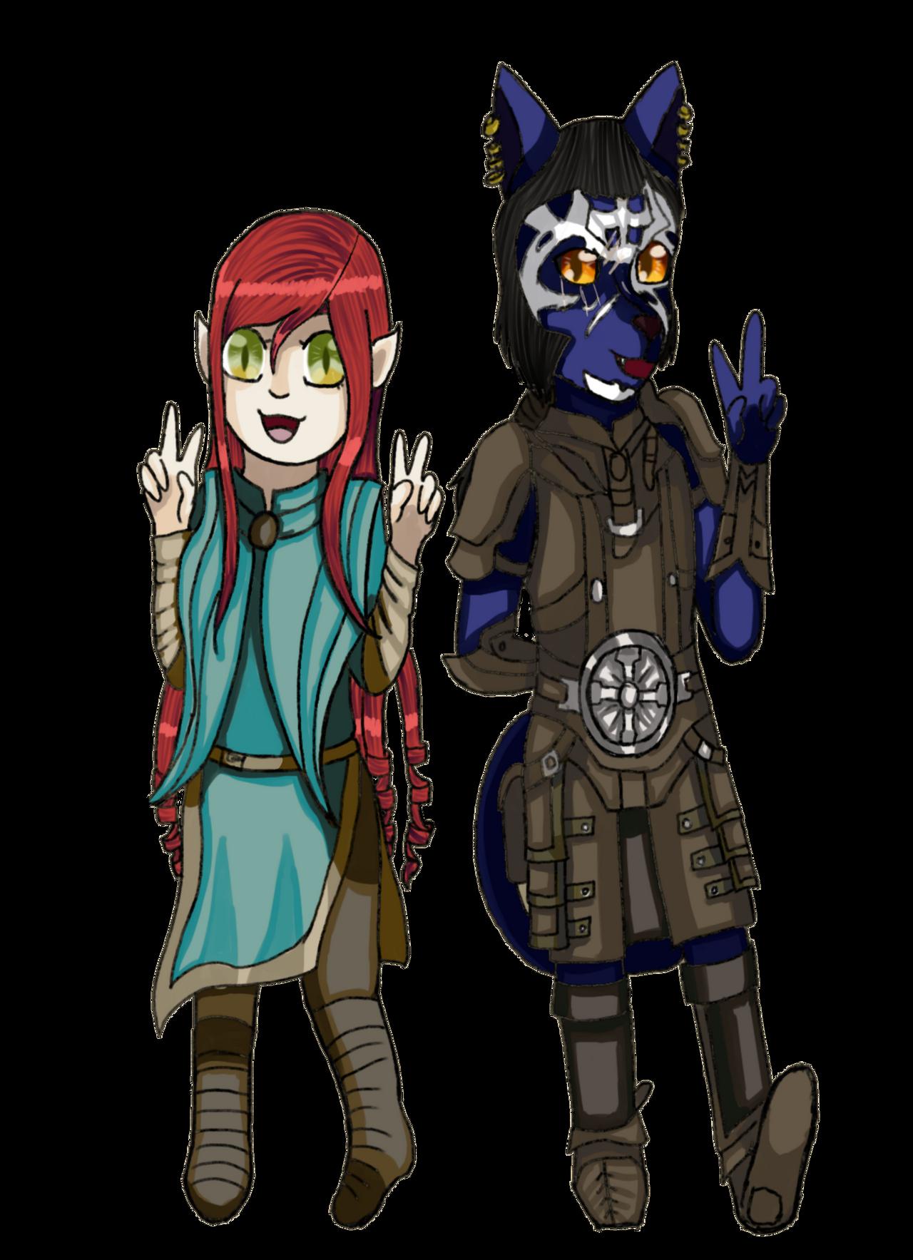 chibi Athena and Inigo