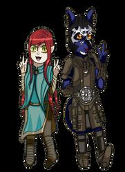 chibi Athena and Inigo by PsychicDuelistRBD