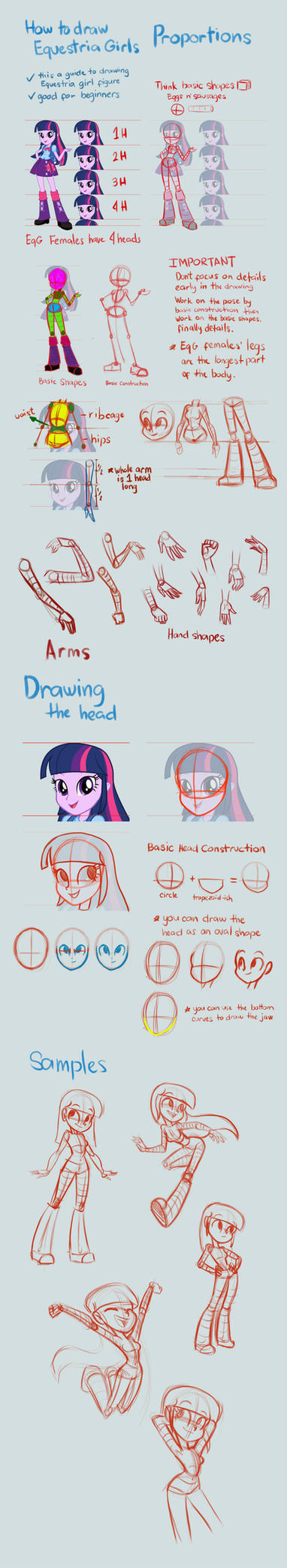 Equestria Girls Tutorial: Proportions by Khuzang