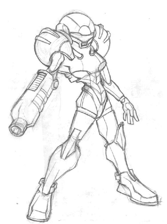 SAMUS SKETCH by R0B0TNiNJA
