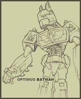 Optimus Batman by R0B0TNiNJA