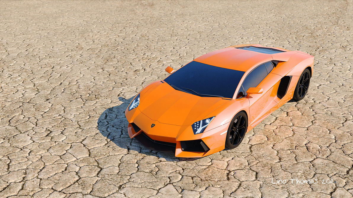 Lamborghini Aventador 3D Artwork by Linolafett