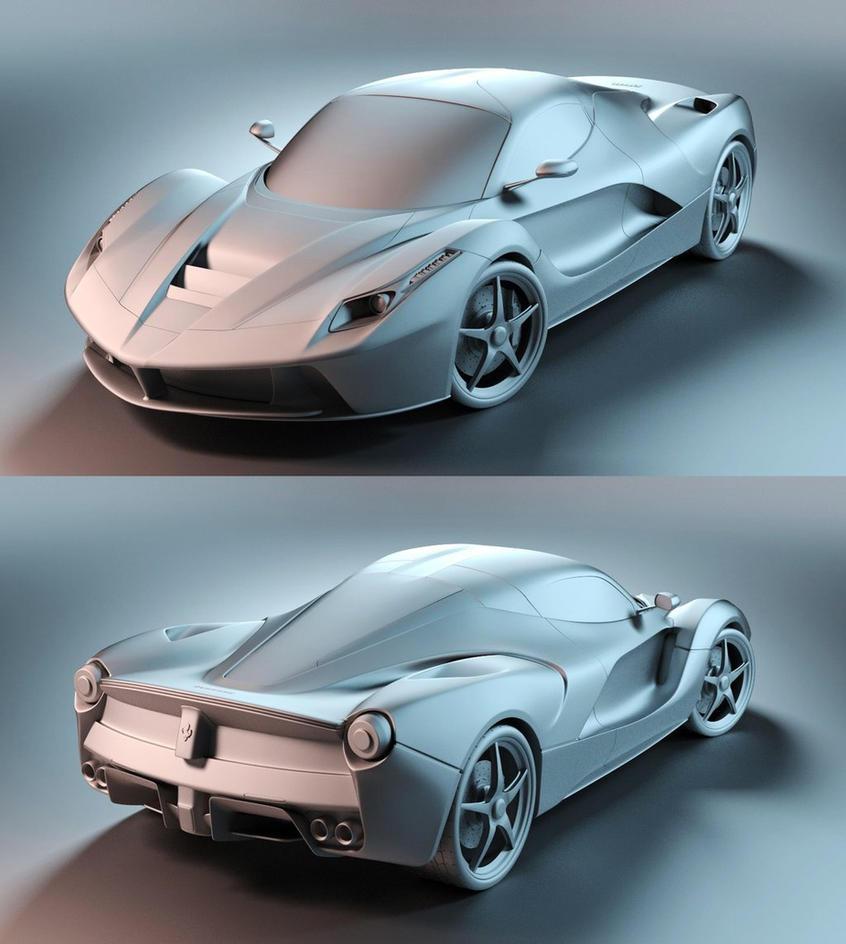 Laferrari - Ferrari F150 [clayrender] by Linolafett