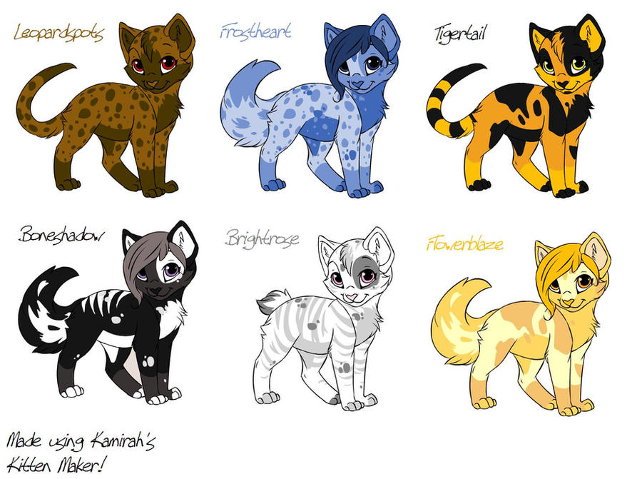 warrior cat adoptables by acornheart465 on deviantart