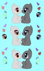 Chibi Pony Love Base by acornheart465
