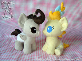 Pound and Pumpkin Cake plushies SOLD by SunflowerTiger
