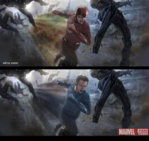 The Flash manip from Quicksilver Concept art