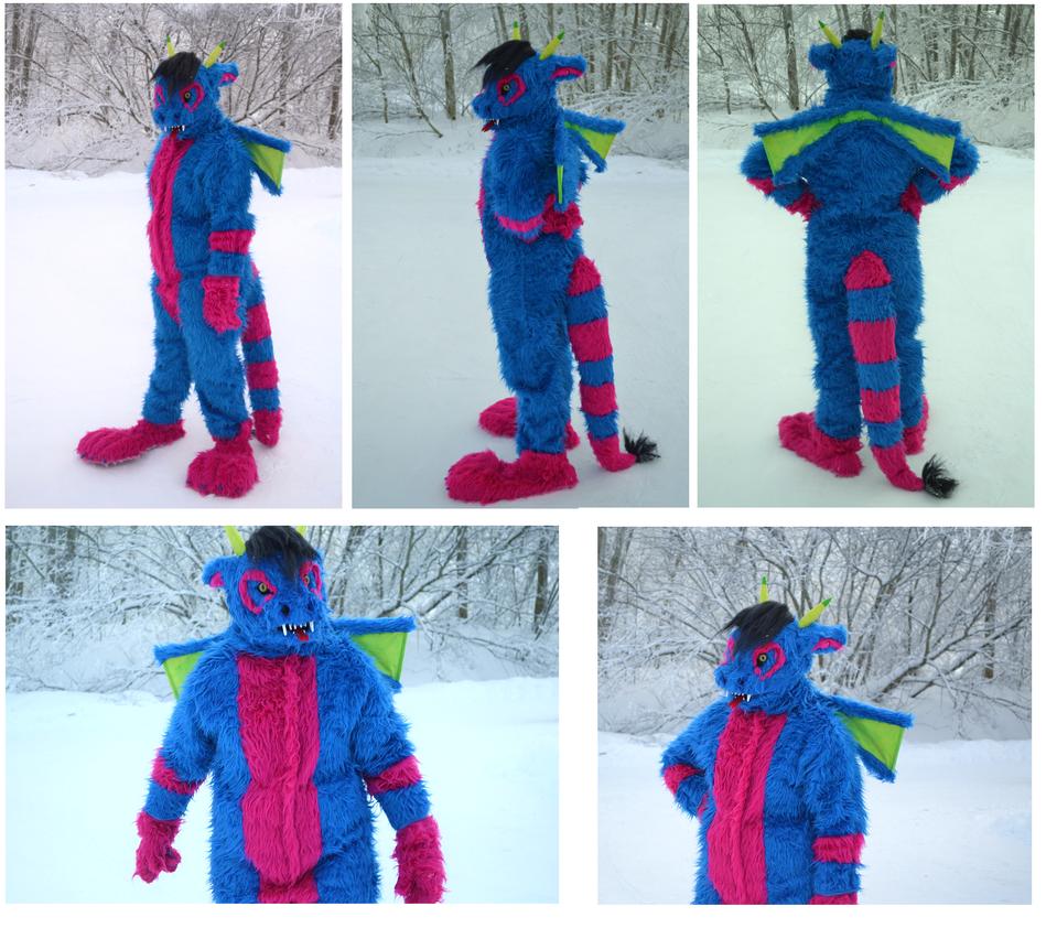 Dragon fursuit by Yokkyena