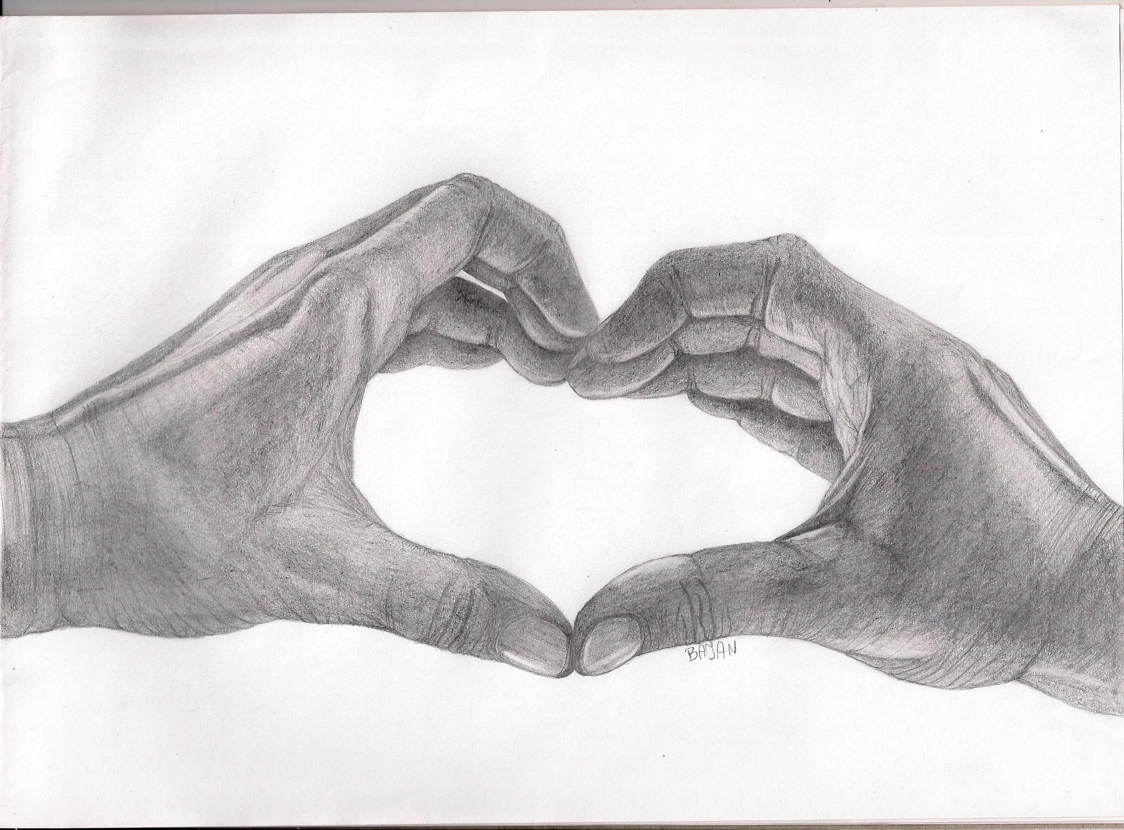 Uncategorized Heart Hands Drawing heart with hands by bajan art on deviantart art