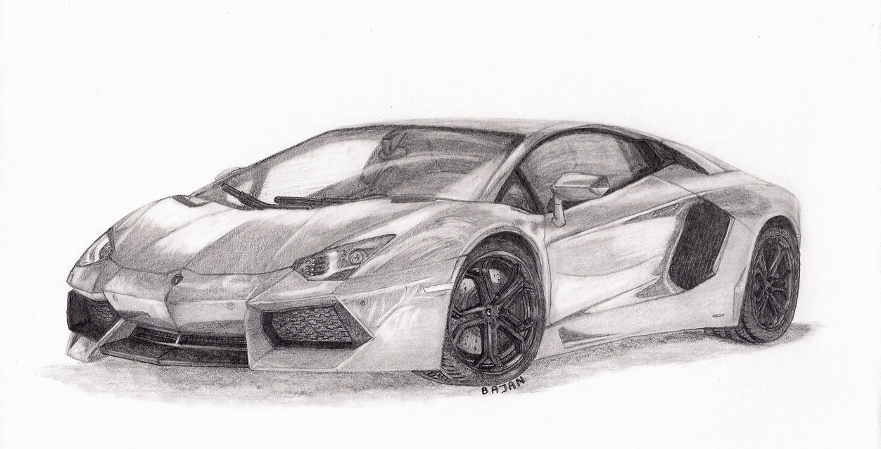 gallery of lamborghini aventador black and white drawing