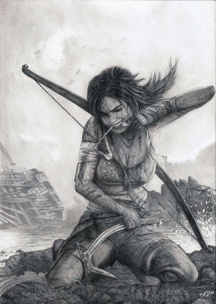 Tomb Raider Lara Croft by Bajan-Art