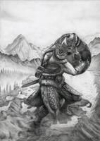The Elder Scrolls V: Skyrim Dovahkiin by Bajan-Art