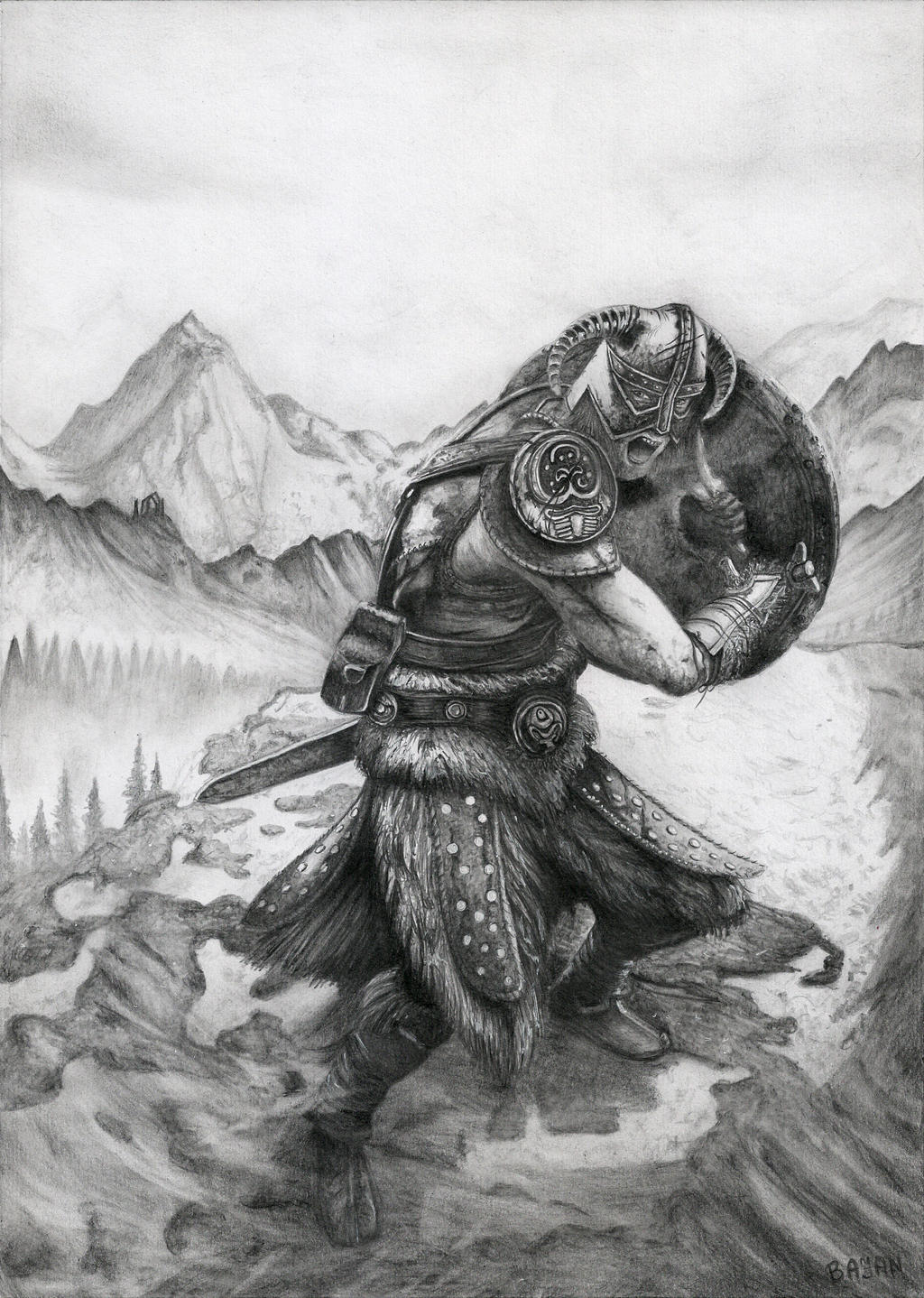 above is skyrim drawing - photo #19