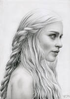 Daenerys Targaryen Game of Thrones by Bajan-Art