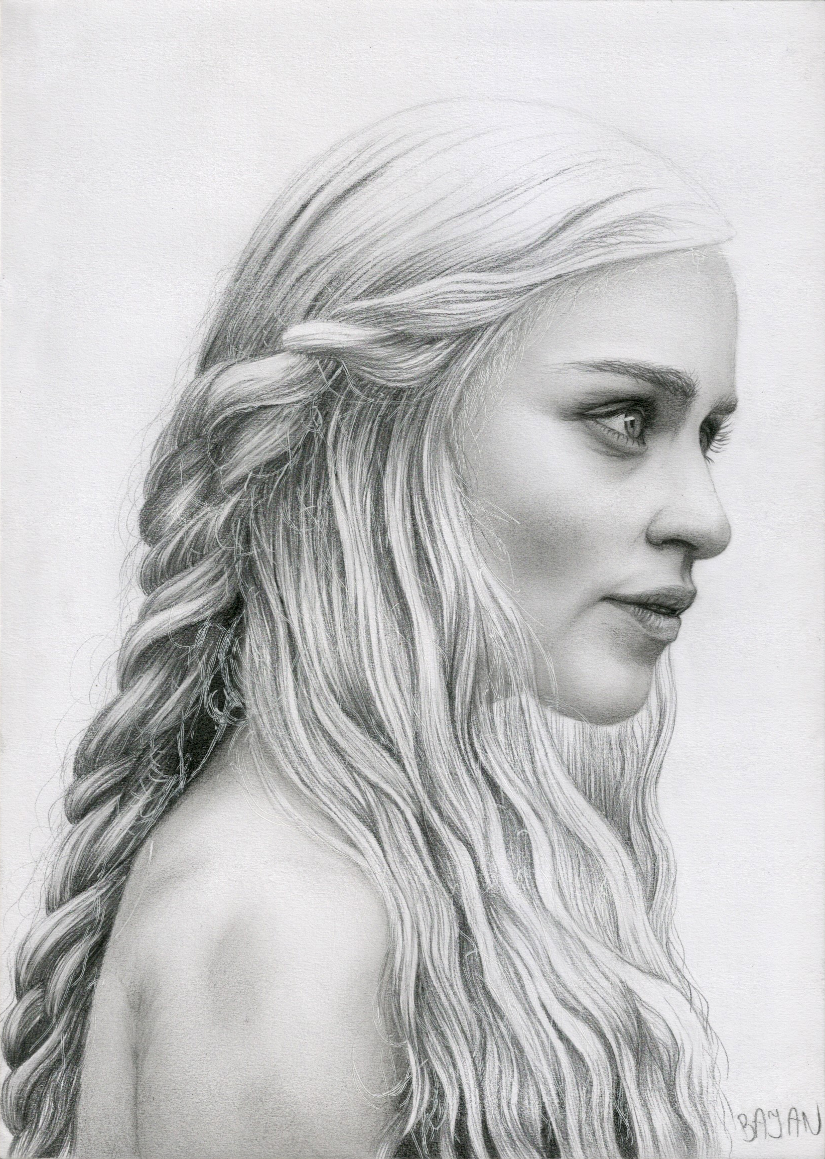 Daenerys Targaryen Game of Thrones by Bajan-Art