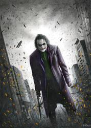 Joker Batman: The Dark Knight by Bajan-Art