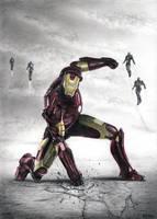 Iron Man drawing by Bajan-Art