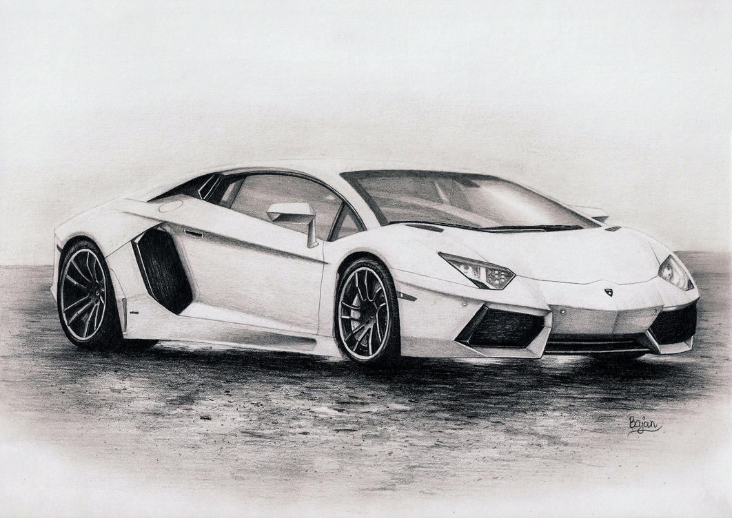 Lamborghini Aventador drawing by Bajan-Art on DeviantArt