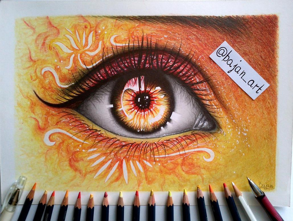 fire eye drawing by bajan art on deviantart