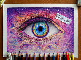Galaxy eye drawing