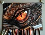 Smaug eye drawing