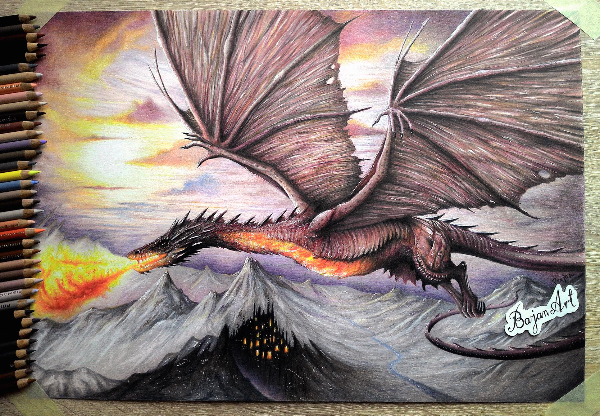 Smaug The Hobbit Drawing By Bajan Art On Deviantart