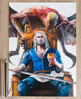 The Witcher 3: Blood and Wine drawing Bajan Art