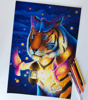 Peace - tiger drawing