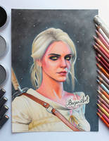 Ciri The Witcher 3 drawing
