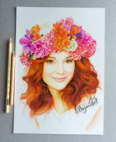 Portrait of a woman by Bajan-Art