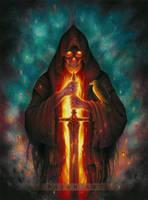 Grim Reaper drawing - Memento Mori by Bajan-Art