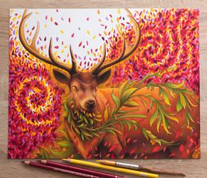Fantasy Deer Drawing