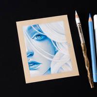 Drawing tiny portrait by Bajan-Art
