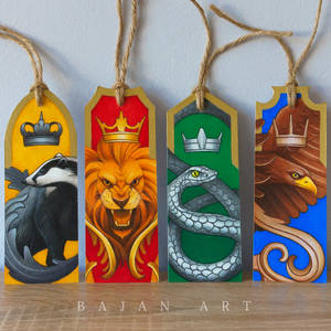 Harry Potter Bookmarks - Hogwarts House Drawing
